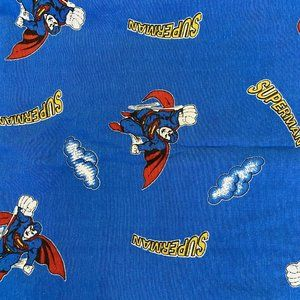 Vtg Superman Man of Steel Twin fitted sheet 1978